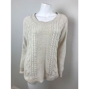 Coincidence&Chance Cable knit sweater Off-white S